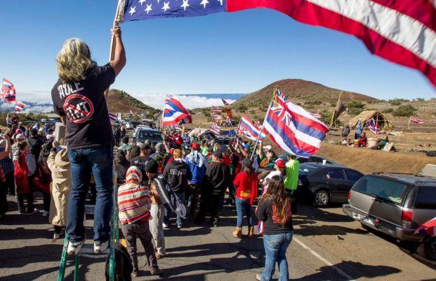 اعتراض بومیان هاوایی به ساخت بزرگترین تلسکوپ جهان