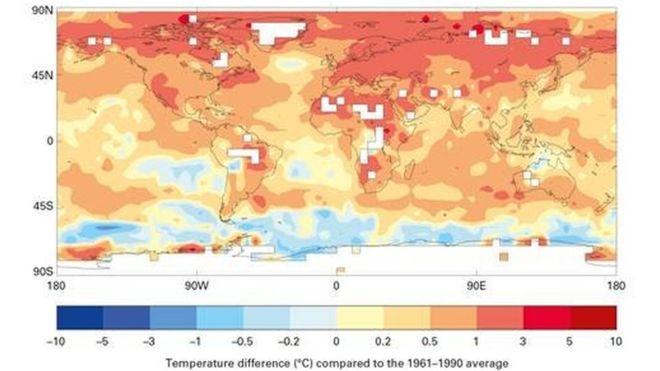 پنج سال گذشته گرم ترین سال های ثبت شده بودند