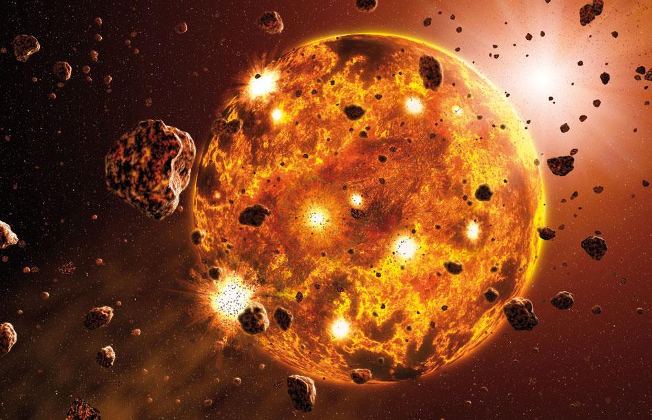 برخورد خشن سنگریزه ای برای شکل گیری سیاره ی مریخ