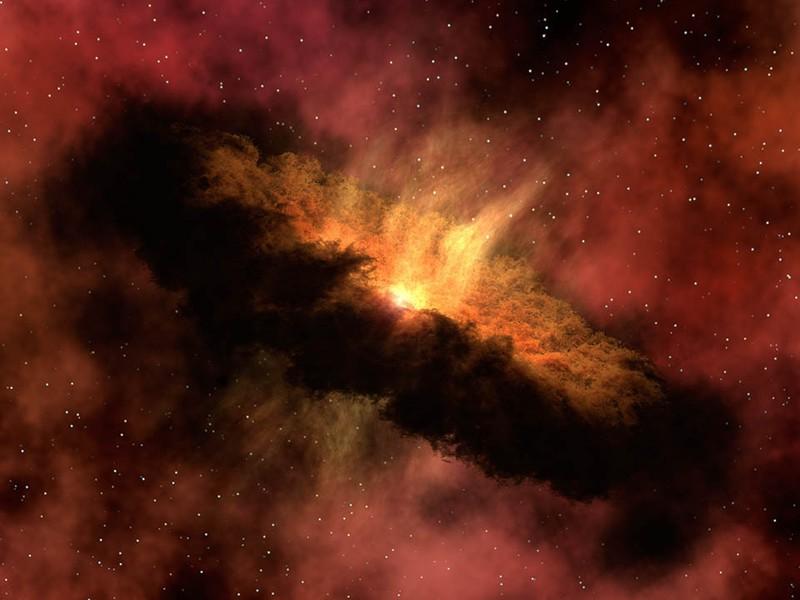 برداشتی هنری از شکل گیری سیارات در دیسک ستاره ای