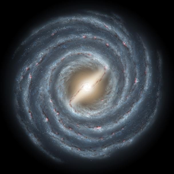 تصویری هنری از کهکشان مارپیچی راه شیری