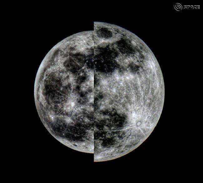 تصویری مقایسه ای از ابر ماه و ماه عادی