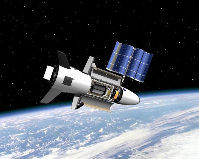 تصویری هنری از هواپیمای مرموز فضایی آمریکا