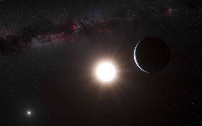 تصویری هنری از یک سیاره فرازمینی در منظومه آلفا قنطورس.
