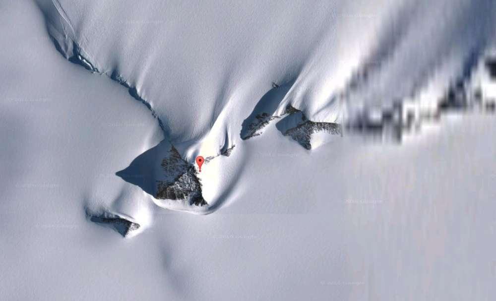 هرم تازه کشف شده در قطب جنوب با ابزار Google Earth