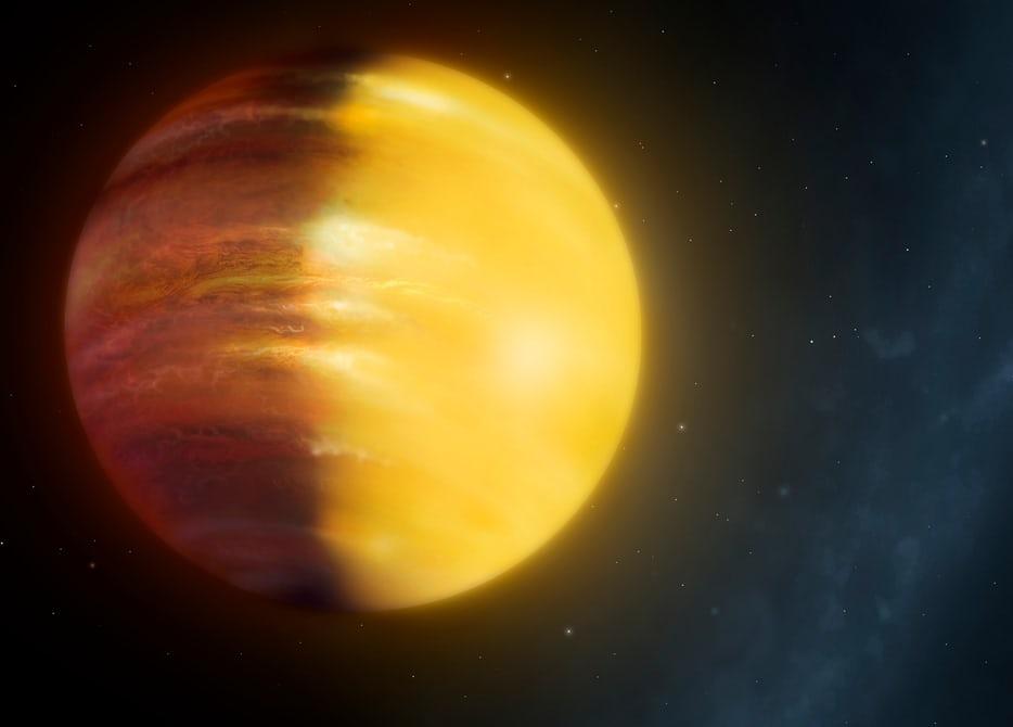 تصویری هنری از سیاره فراخورشیدی مشتری داغ HAT-P-7b