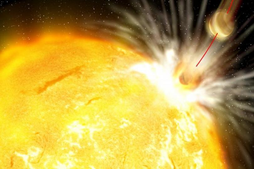 تصویری هنری از ستاره HIP68468 در حال بلیعیدن سیاره اش