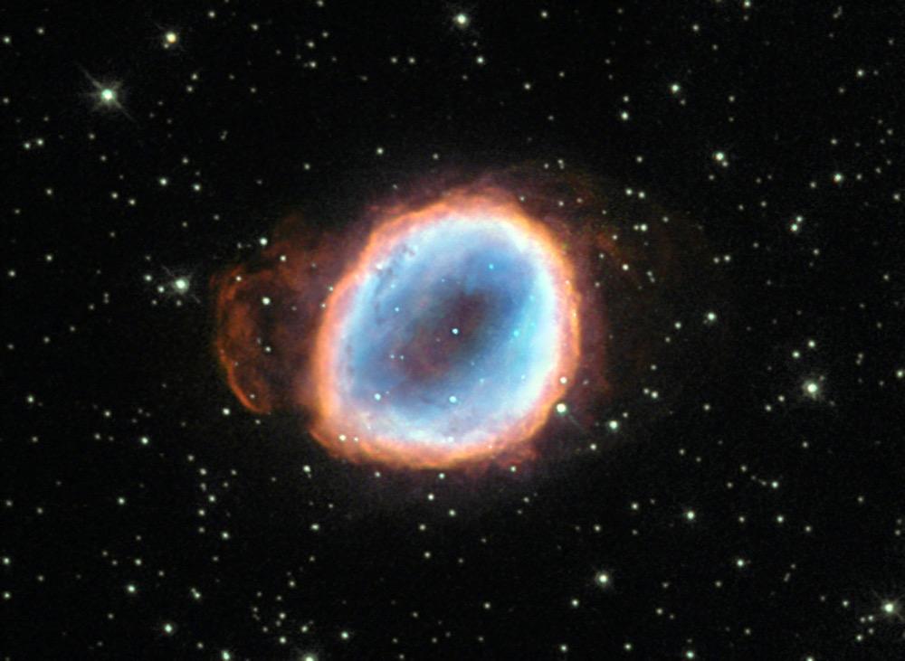 مراحل پایانی مرگ ستاره ای که باعث وجود آمدن سحابی مجللی به نام NGC 6565 شده است.