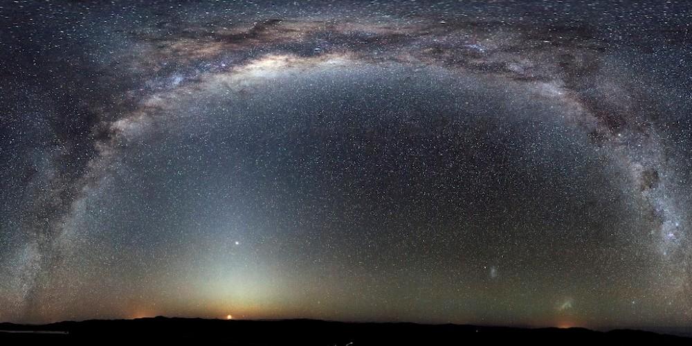 کمان ستارگان کهکشان راه شیری از دید ناظر زمینی