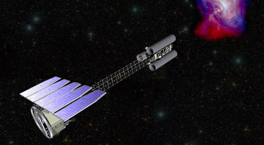 تصویری هنری از تلسکوپ فضایی IXPE