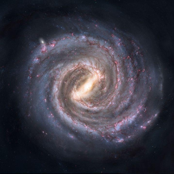تصویری هنری از کهکشان راه شیری- چگونه بدون ترک کهکشان راه شیری از آن عکس تهیه می شود