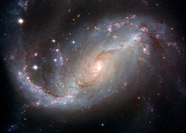 تصویری از کهکشان مارپیچی NGC 1672