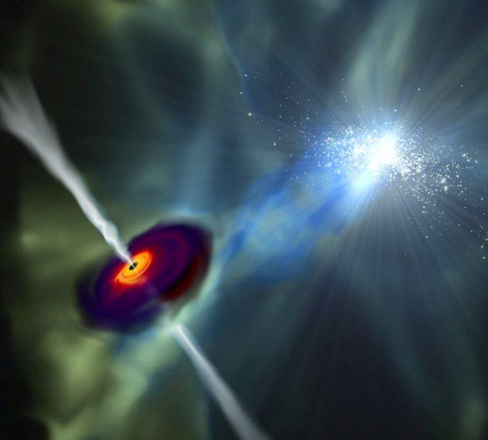 اولین سیاهچالۀ بسیار پرجرم جهان، چگونه شکل گرفت؟