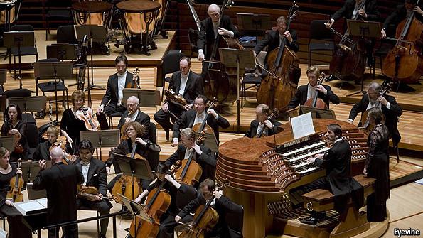 Classical music organ