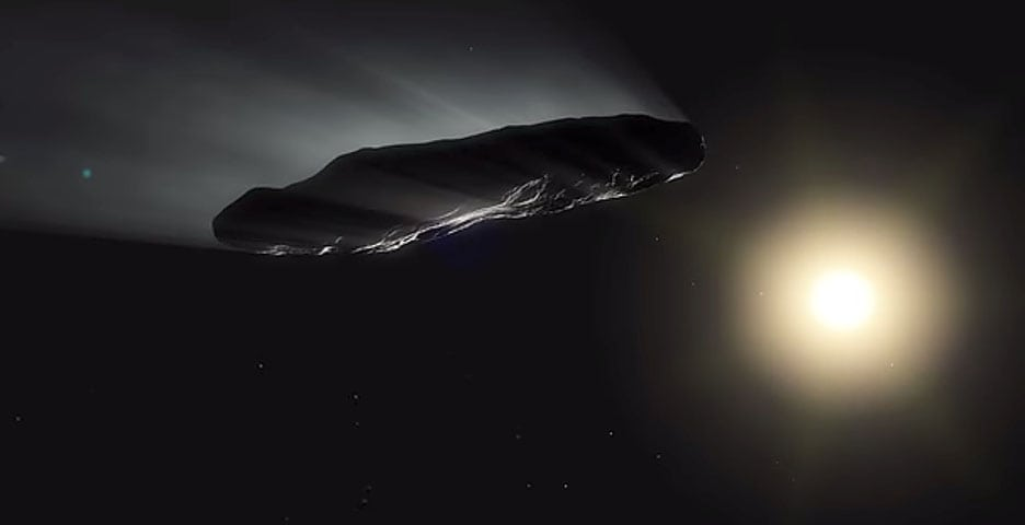 Oumuamua ESO illus outgassing