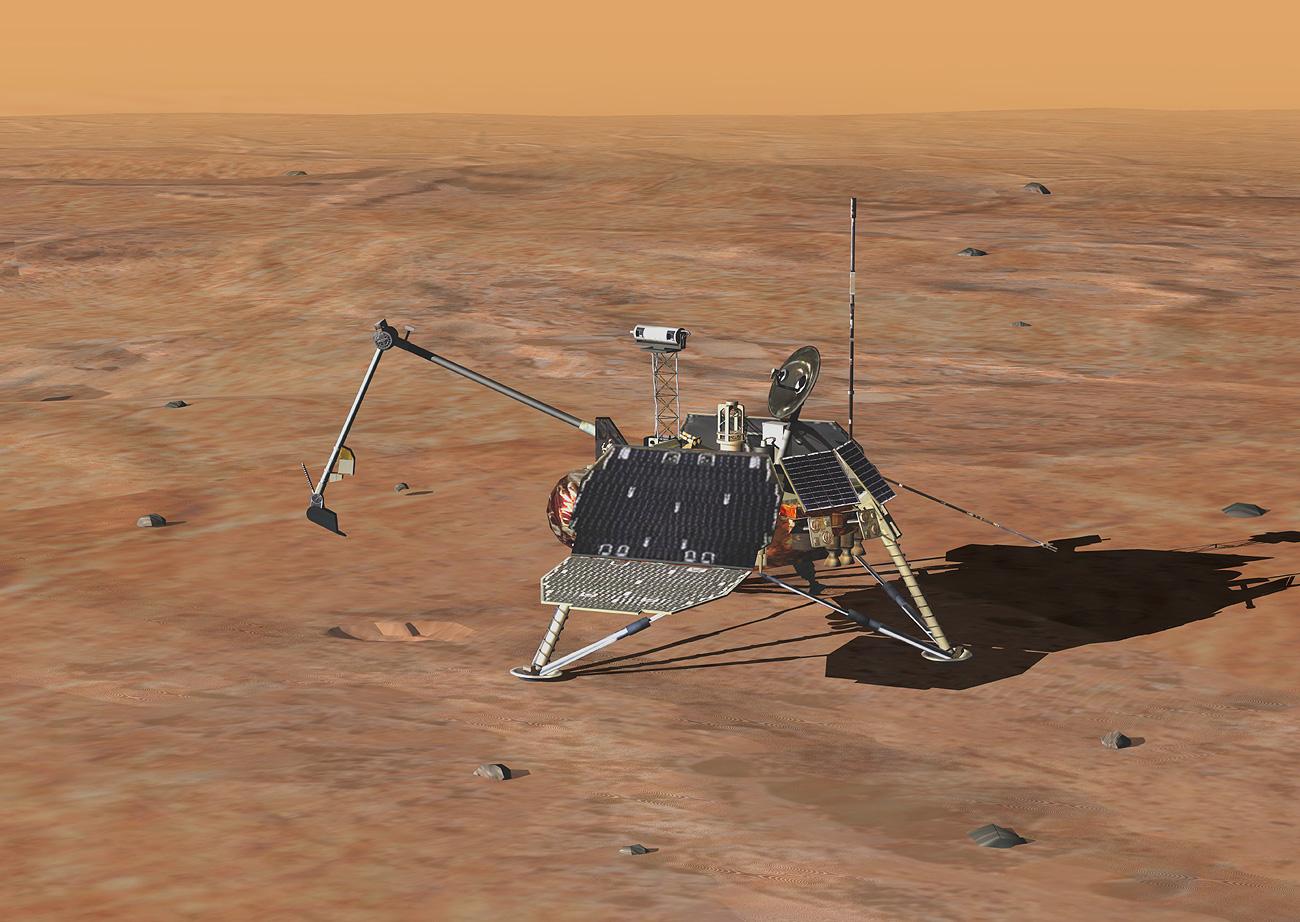 mars polar lander digging