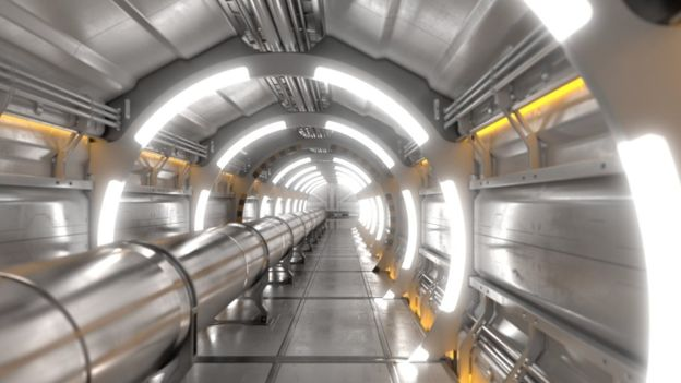 tunnel interiors.