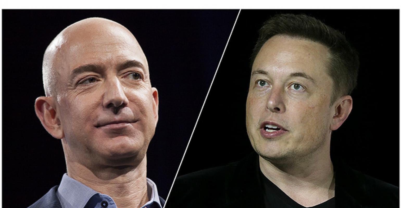 Jeff Bezos Elon Musk DavidRyder JustinSullivan