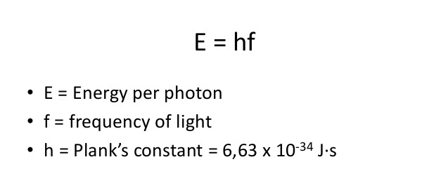 photoelectric calculations