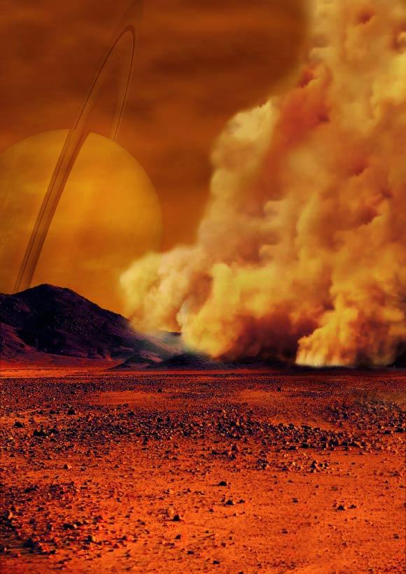 image Titan Dust Storms