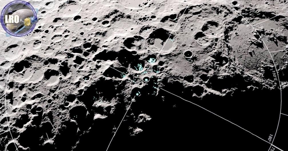 nasa lunar reconnaissance orbiter moving water moon x