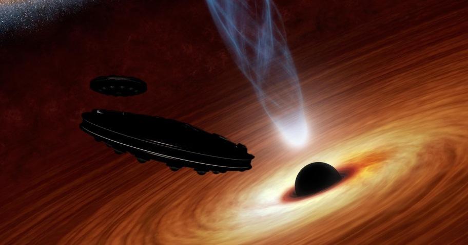 seti plan detect alien starships black holes x