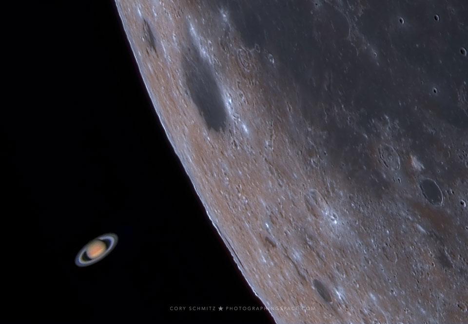اختفای زحل توسط ماه
