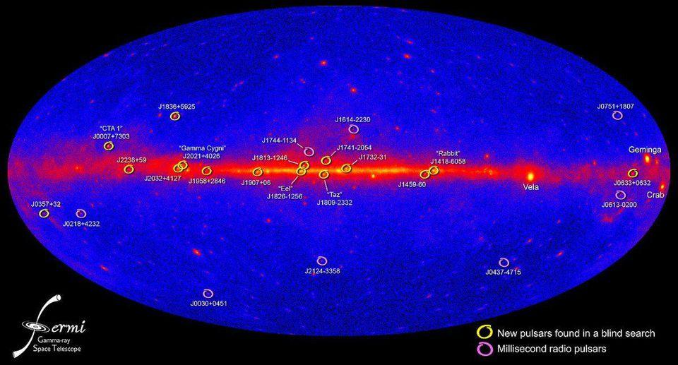 Fermis Gamma ray Pulsars x