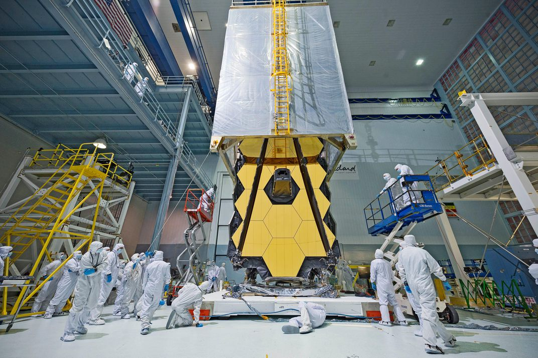 nasas webb telescope clean room transporter o
