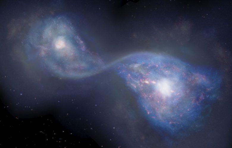 Galactic Collision ALMA x