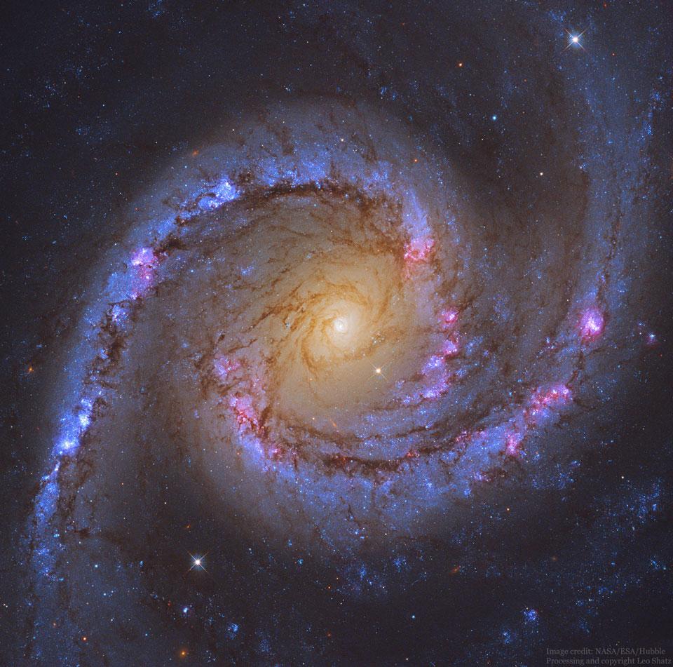 شکوه یک کهکشان مارپیچی