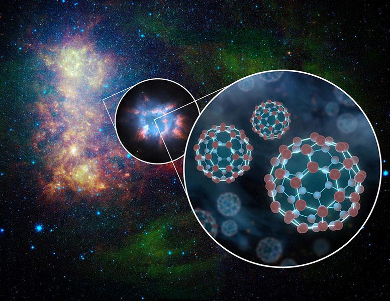 کشف باکی بالهای یونیزه در فضای میان ستارهای