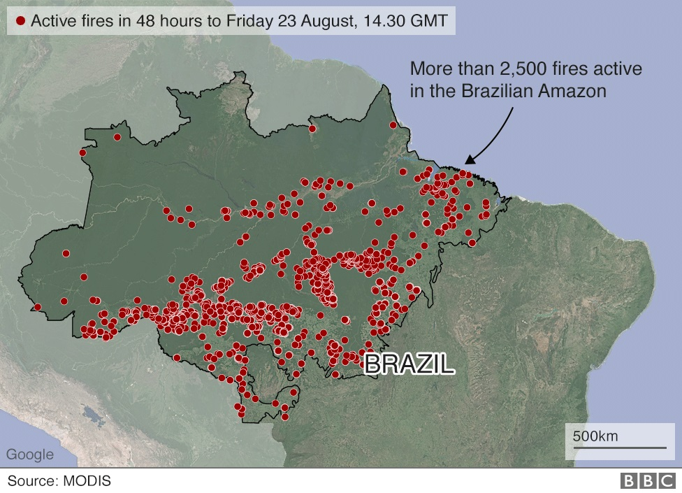 brazil active fires map nc