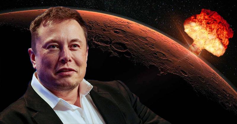 ایلان ماسک میخواهد مریخ را بمباران کند!