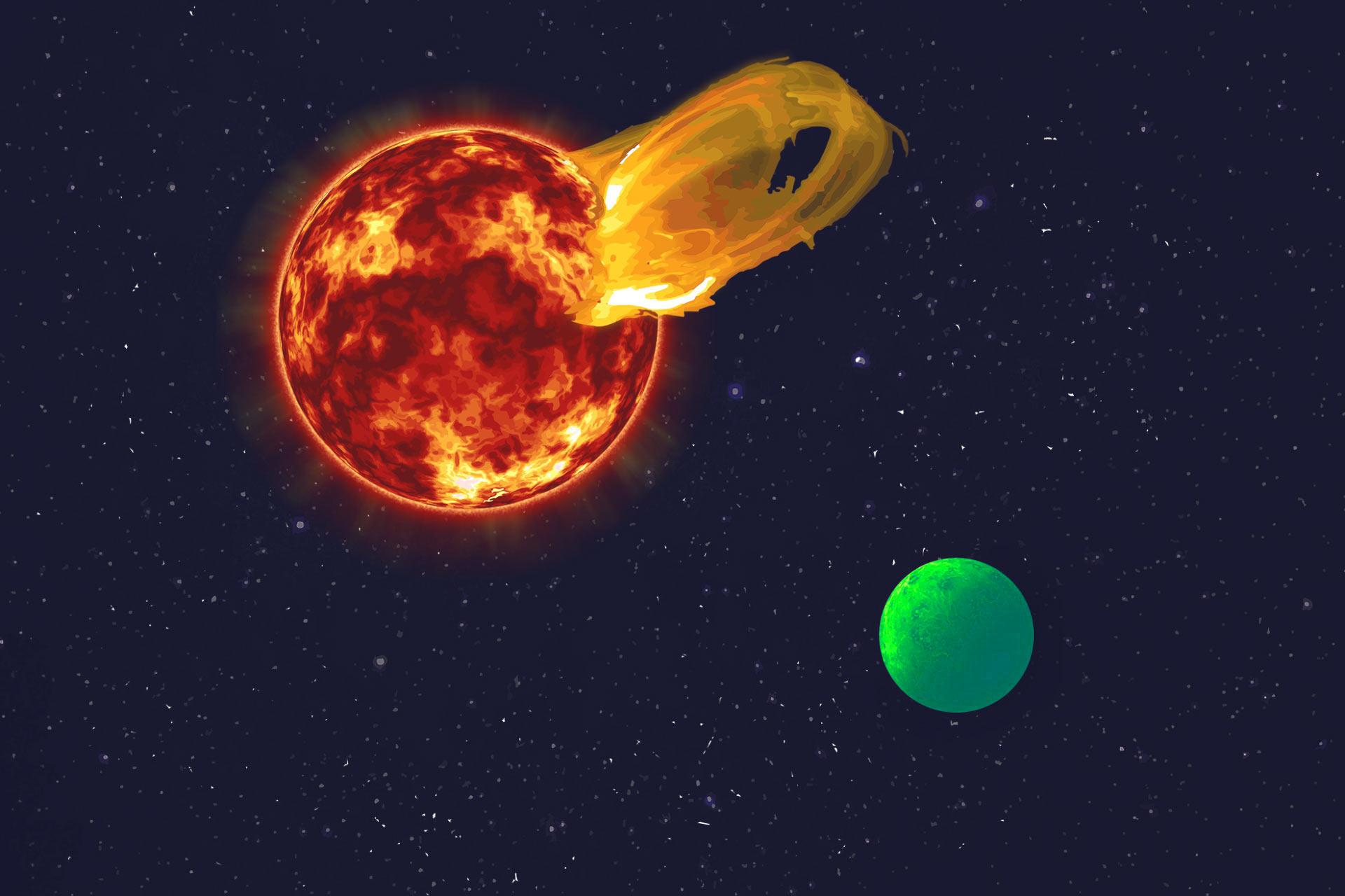 image e Proxima b Biofluorescence