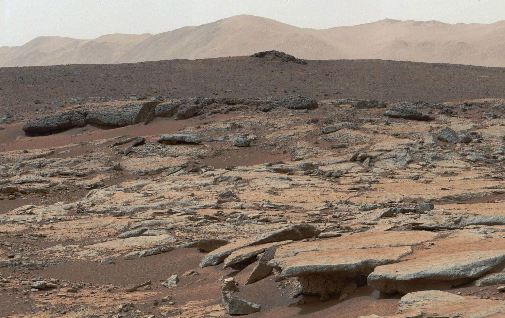 NASA Curiosity Mars Sedimentary Deposits Glenelg Gale Crater