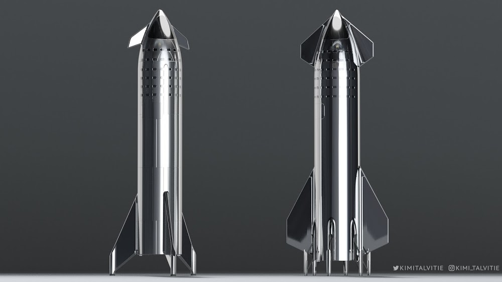 SpaceX Starship old design vs the new one by Kimi Talvitie