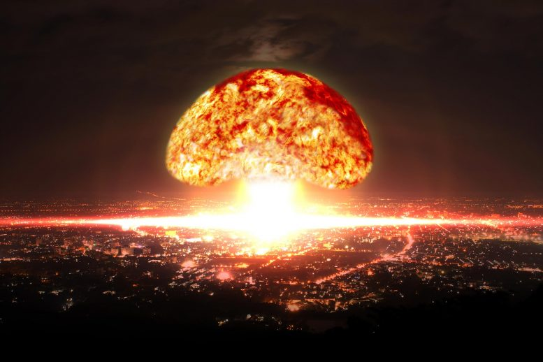 Nuclear Bomb Explosion in City x