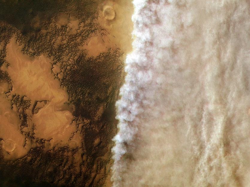 Mars dust storm full