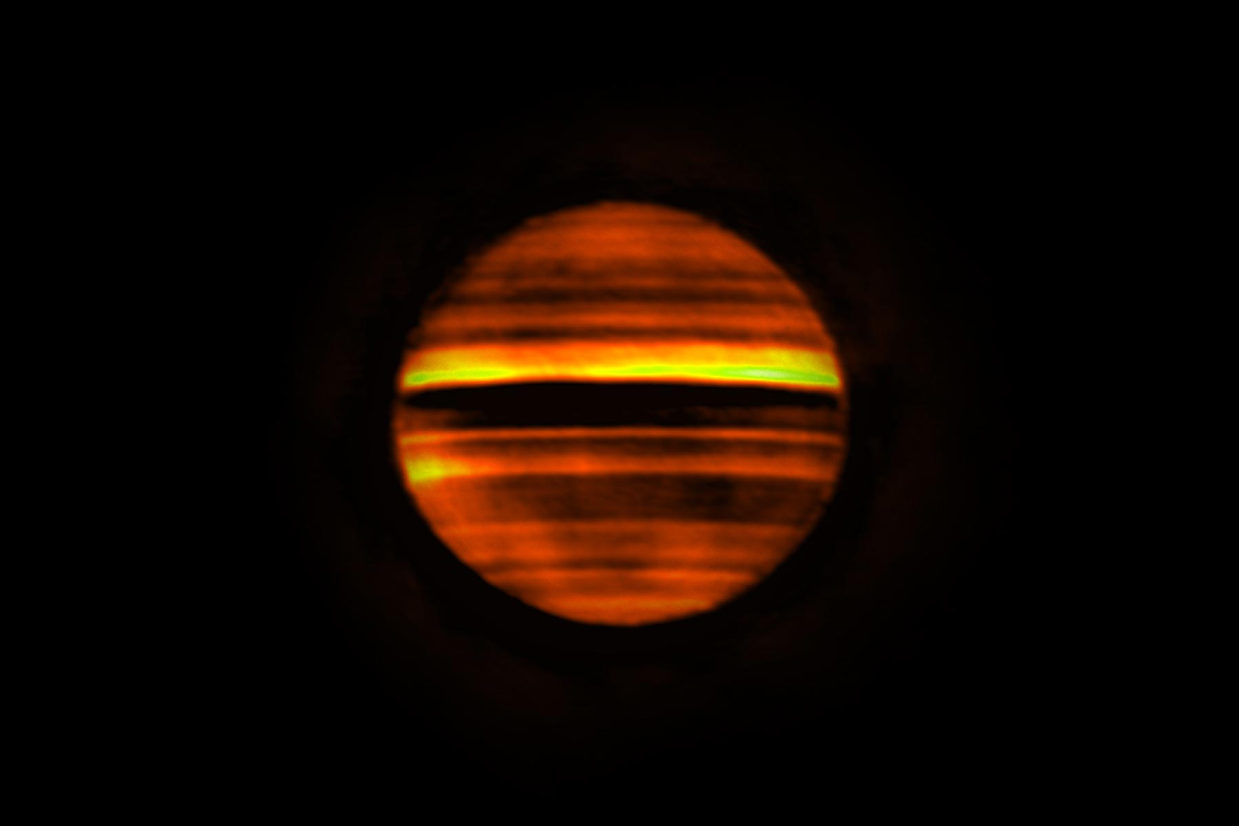 Radio Image of Jupiter Made with ALMA.
