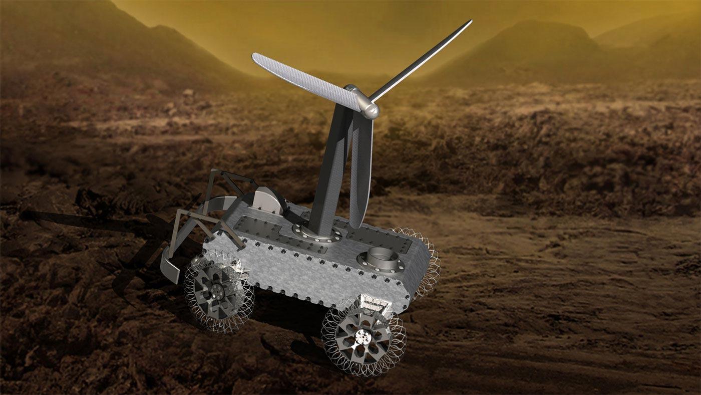 Wind Powered Venus Rover Concept