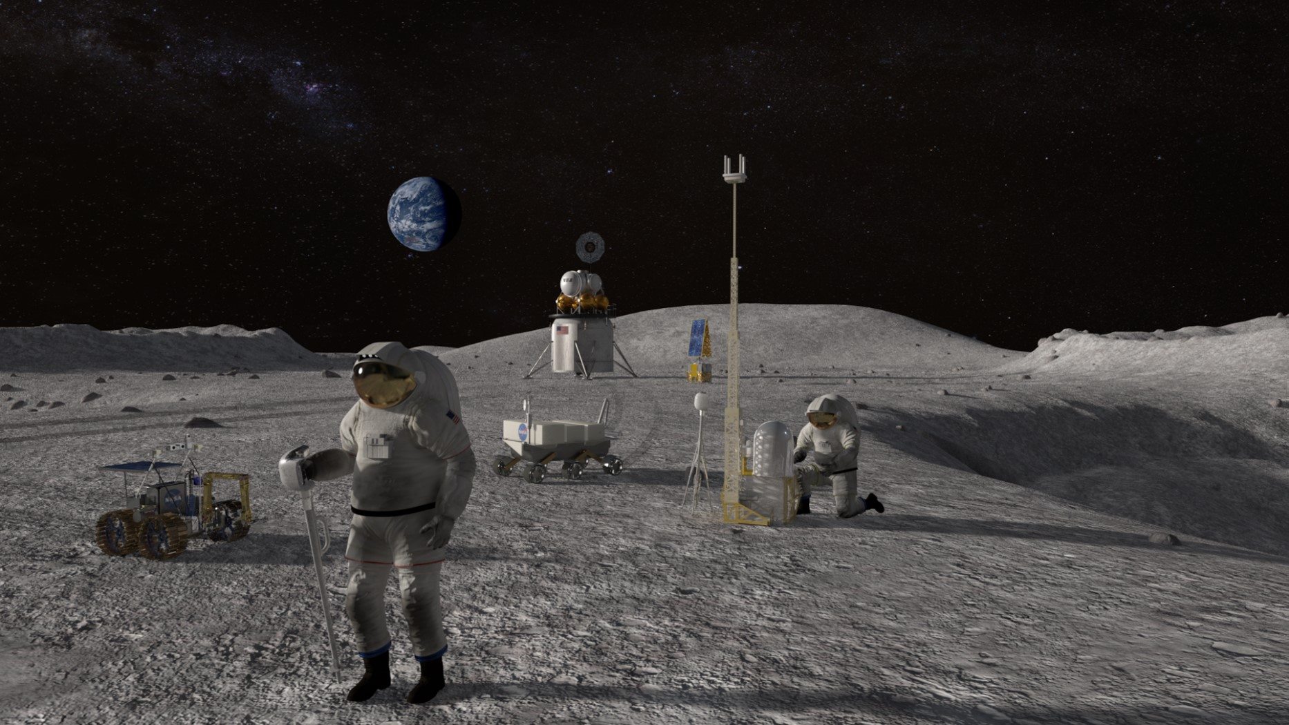 human landing system surface astronauts