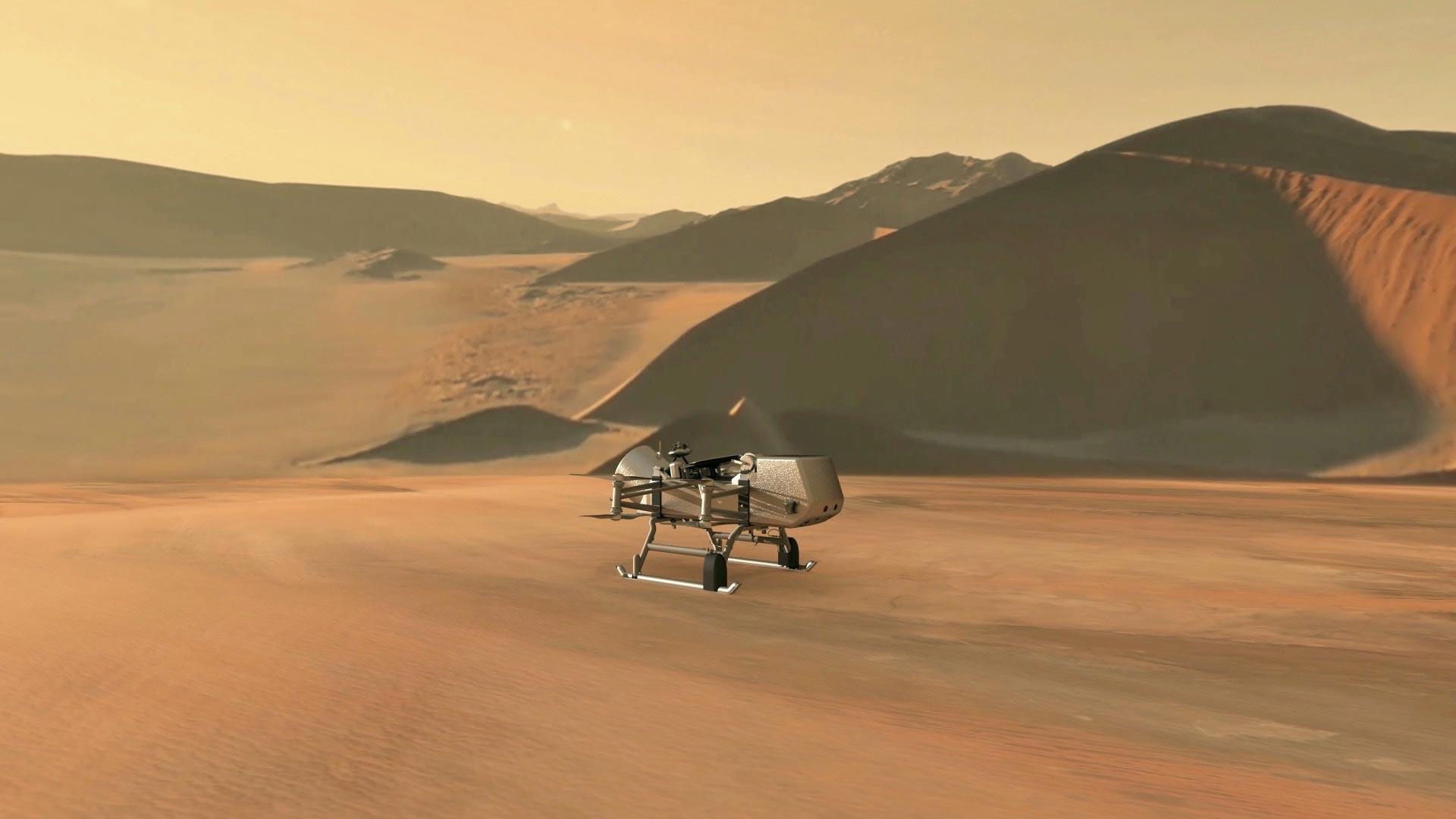 NASA Dragonfly Rotorcraft Lander