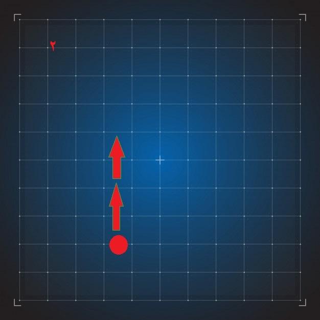 digital blue grid