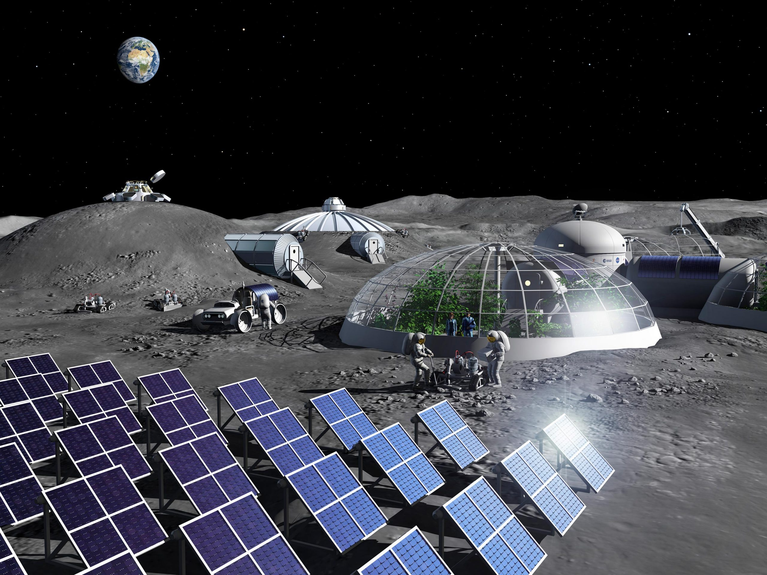 Artist Impression Moon Base scaled