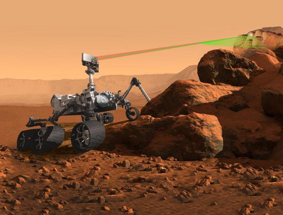 Mars SuperCam Laser Zapping