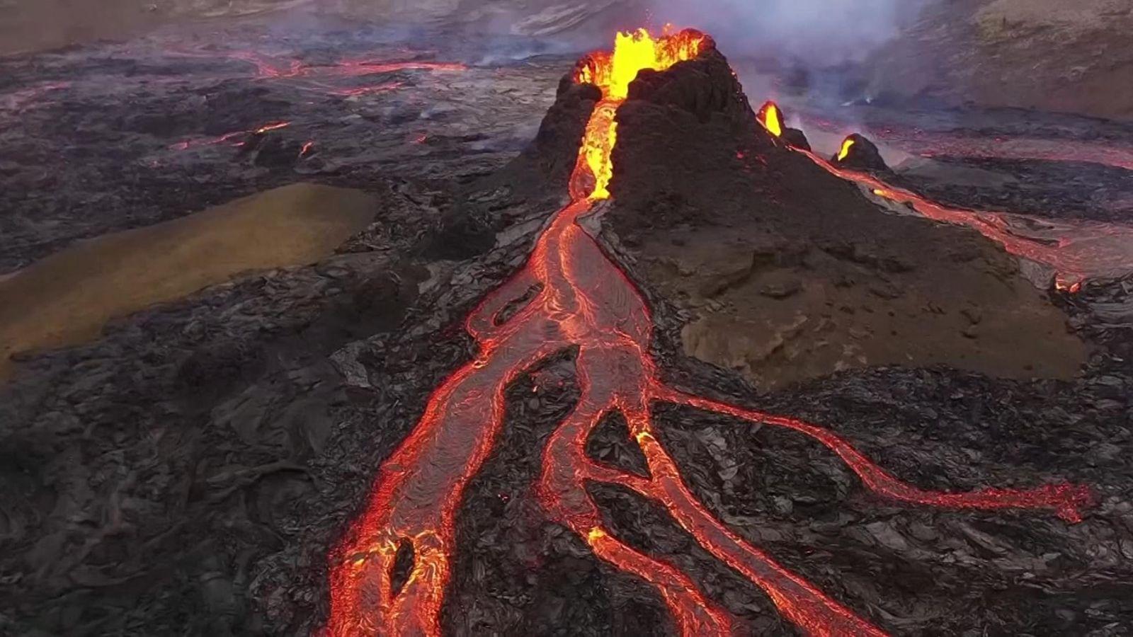 skynews volcano iceland