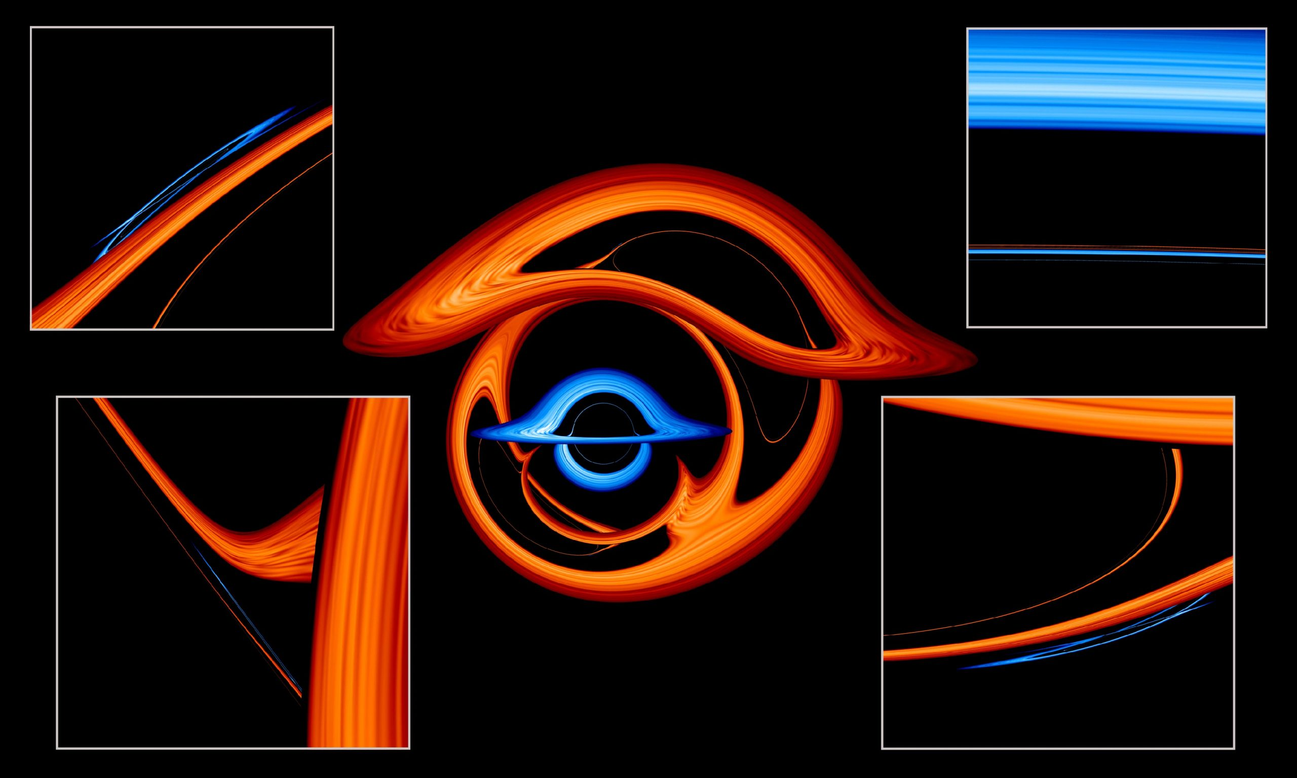 Warped View Binary Black Holes Details scaled