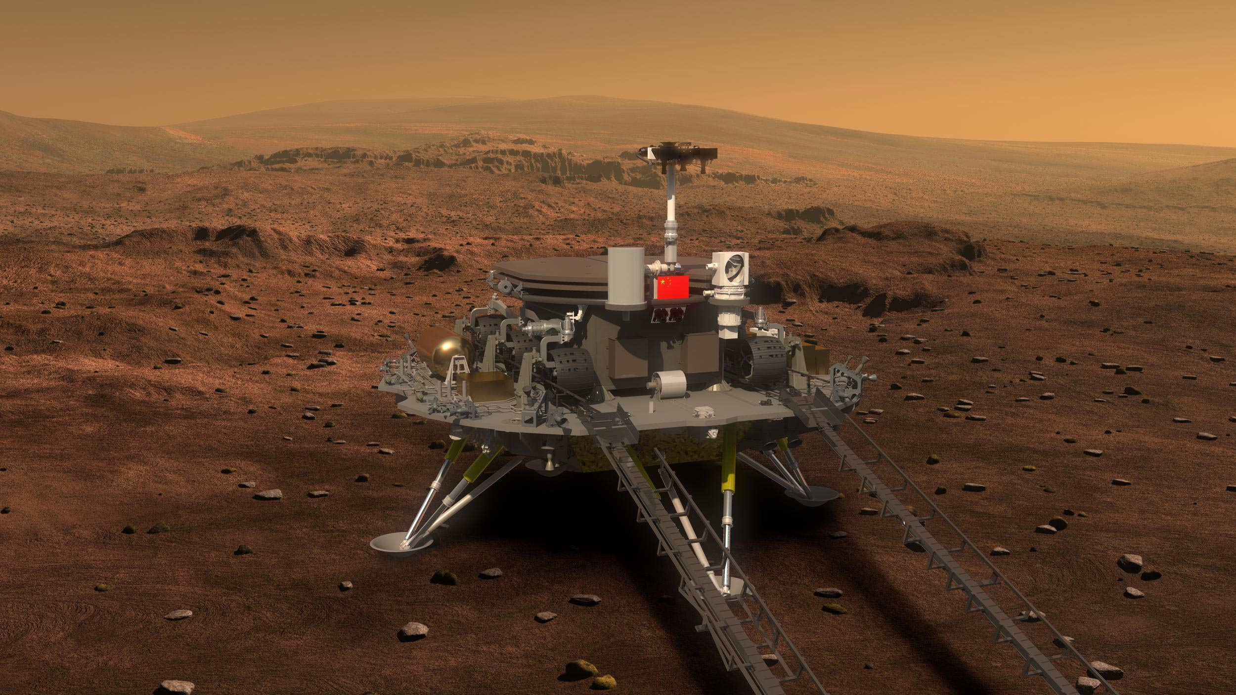 Zhurong Chinese Mars Lander